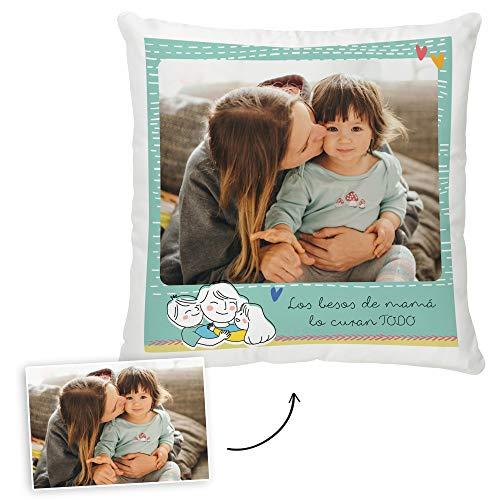 Fotoprix Cojín Personalizado con Foto para Mamá   Regalo Original día de la Madre   Varios diseños Disponibles. (Diseño: Madre 1, 45 x 45 cms)