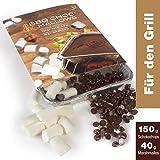 BBQ CHOC MALLOWS 150 g - Fonduta di cioccolato - Fonduta di cioccolato belga con gocce di cioccolato...