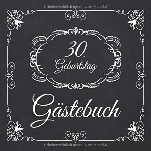 30. Geburtstag Gästebuch: 30 Jahre Edel nostalgisch Album Buch - Geschenkidee Zum Eintragen und zum...