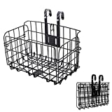 Folding Bike Basket,Cargo Basket for Bike,Removable Front Bag Rear Rack Hanging Bicycle Basket,Collapsible Bike Baskets for Women's and Men's,Mountain Bike Accessories Bike Frame Basket 1 Pack