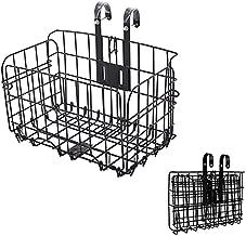 Hoyuuoo Folding Bike Basket,Bike Cargo Basket for Cruisers,Removable Front Bag Rear Rack Hanging Bicycle Basket,Bike Baskets for Women's and Men's,Mountain Bike Accessories Bike Frame Basket 1 Pack
