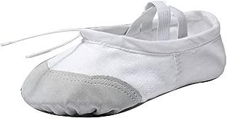 Aiweijia Women's Soft Elastic Canvas Ballet Yoga Dance Shoes for Child