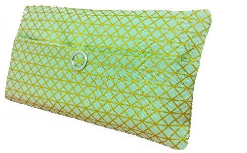 Zakdoeken tas groen goud geometrie driehoekig design adventskalender vulling kabgeschenk cadeautje give away medewerkers Kerstmis