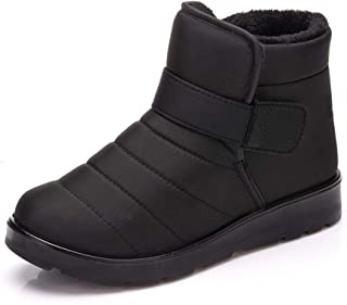 Jinouyy Snow Boots Winter Shoes Fur Lined Warm Ankle Boots Waterproof Outdoor Booties Men Women