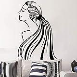 yaonuli Camera da Letto Soggiorno Sfondo Decorazione Affascinante Ragazza Elegante Adesivo da Parete in Vinile Adesivo Rimovibile Impermeabile 30X45cm