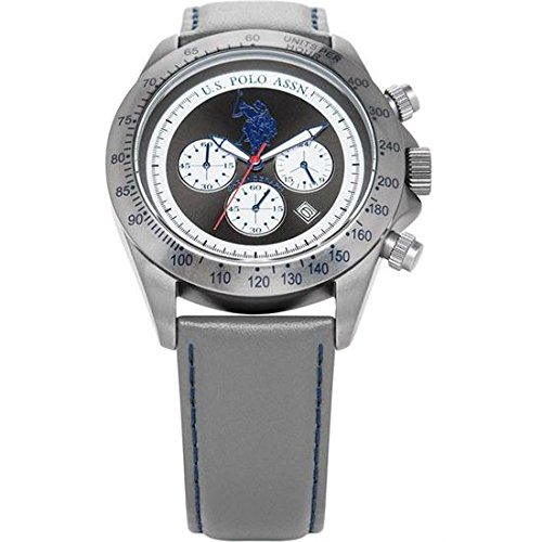 US Polo Association Reloj Analógico para Hombre de Cuarzo con Correa en Cuero USP4061GY
