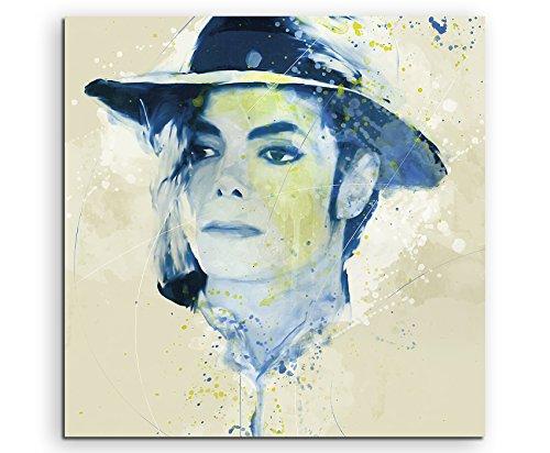 Michael Jackson I Aqua 60x60cm - Splash Art Paul Sinus Wandbild auf Leinwand - Malerei, Kunstbild, Aquarell, Fineartprint