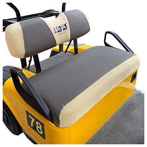 10L0L Golfwagen-Sitzbezug-Set passend für EZGO TXT RXV & Club Car DS, hält warm Banksitzbezüge, atmungsaktiv, waschbar, Polyester-Mesh-Tuch, grau, schwarz, beige, rot, blau, klein