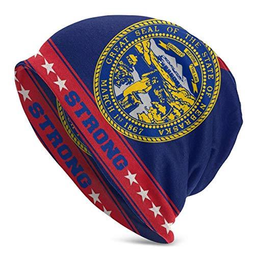 shenguang Starke Flagge von Nebraska Unisex Strickmütze Soft Stretch Mützen Skull...
