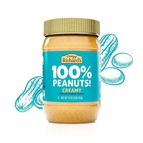 100% AllNatural Creamy Peanut Butter SugarFree Peanut Butter Bulk Pack of 2 x 16oz – Crazy Richard