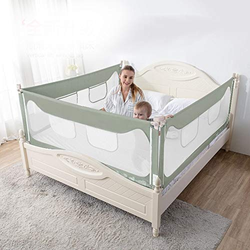Find Bargain WLPOY Kids Bed Rail Baby Crib Baffle Bed Rails Drop Guard Rail Vertical Lifting Comfort...