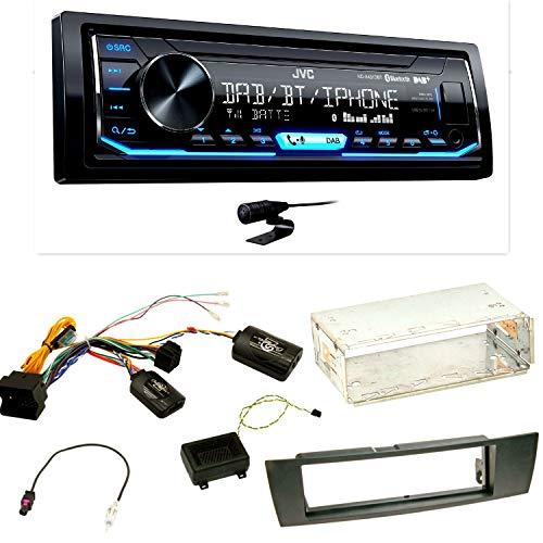 JVC KD-X451DBT Autoradio Digitalradio DAB+ Bluetooth USB AUX 1-DIN Spotify Control Einbauset für BMW E90 E91 E92 E93