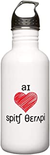 CafePress I Heart Speech Therapy 2 Tone Stainless Water Bo Stainless Steel Water Bottle, 1.0L Sports Bottle