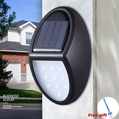 Ywoow Solar Light, Solar Energy 10LED Garden Fence Lamp Corridor Wall Lamp Induction Lamp,Solar Wall Light Villa Outdoor Waterproof Lighting Small Wall Light to Send Brushes