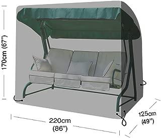 Copertura per Dondolo da Giardino FADDR Impermeabile Resistente alla Pioggia e ai Raggi UV in polietilene a 3 posti Taglia Unica 220 X 170 X 125 Cm
