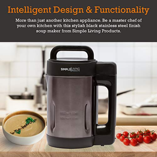 Simple Living Products 16L Deluxe Portable Soup Maker Hot Soup Maker Machine is a 4in1 Applaince Soup Maker Blender Soy Milk Maker and Juicer Homemade Nutritious Soups in 30 Minutes