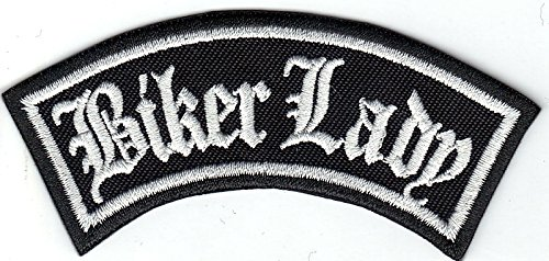 BIKER LADY Girl Rider Rankpatch Rocker Motorcycle Aufnäher Patch Abzeichen