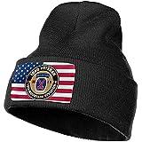 Ejército de los EE. UU. Veterano de Iraq Décima Montaña Hombres Mujeres Gorro de Punto Liso de Punto cálido Gorro de Calavera Gorro de Punto de acrílico Sombrero