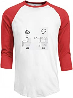 トップス 適切なトイレの使用 Men Raglan Sleeve T-Shirt メンズ Tシャツ