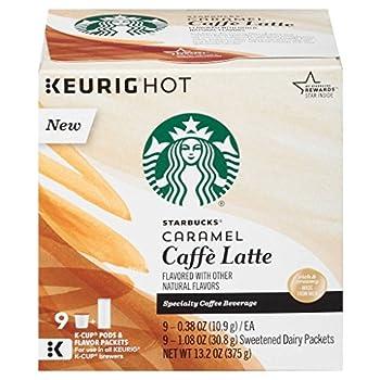 Starbucks Caramel Caffe Latte K-Cup Pods - 9 Count