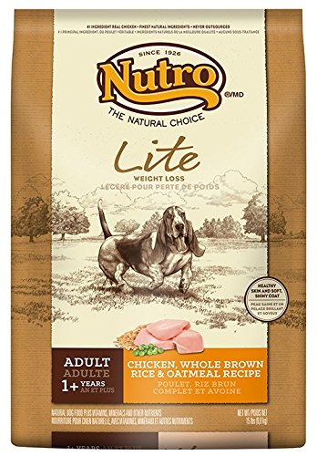 Nutro Lite, Weight Loss Dry Dog Food, Chicken, Brown Rice And Oatmeal, 15 Lbs.