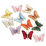ZOOPOLR 24 Pack Iron on Patches, Sew On Applique Patches, Colorful Butterfly Embroidery Applique Patch for Clothes Backpacks T-Shirt Jeans Skirt Vests Scar (24)