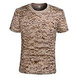 EElabper Combate de Secado rápido Camiseta Camiseta Militar de Camuflaje táctico de la Manga Corta Camisa de los Hombres al Aire Libre de Camo de excursión la Caza Camisas
