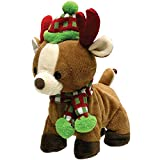 "Cuddle Barn - Rock & Roll Rider | Animated Walking Dancing Singing Christmas Holiday Reindeer Sings ""Sleigh Ride,"" 10 Inches"