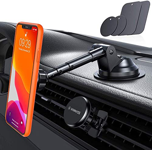 VANMASS Magnetic Phone Car Mount with 6 Powerful Rare-earth Magnets, Durable Aluminium...