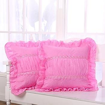 Best pink ruffle pillows Reviews