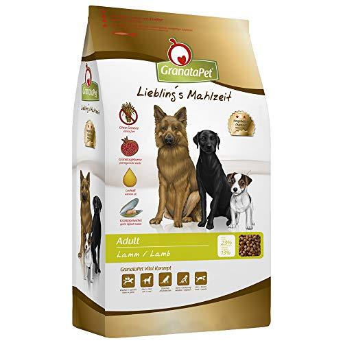 GranataPet Liebling's Mahlzeit Adult Lamm, Trockenfutter für Hunde, Hundefutter ohne Getreide & ohne Zuckerzusätze, Alleinfuttermittel, 1 x 10000 g