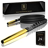 Premium Hookah Hose with Mouthpiece - 60' Long Silicone Water Pipe Hose, Washable, with 15' Aluminum Easy-Grip Mouthpiece - Modern Design Handle, Won't Rust or Ghost + Free E-Book