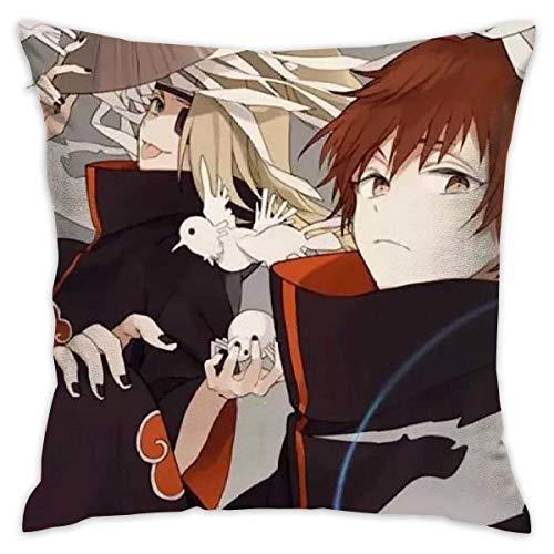 Suzanne Betty Funda de cojín de Naruto Scorpion decorativa, funda de almohada para sofá, asiento de coche, funda de almohada suave de 45,7 x 45,7 cm
