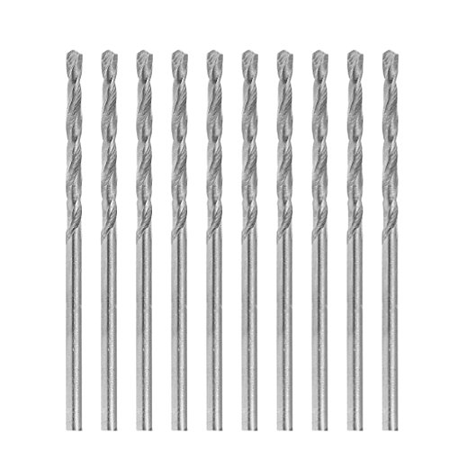 Ontracker Multifunction 10pcs Tiny Micro HSS 2.1mm Cylinder Shank Twist Drill Bits