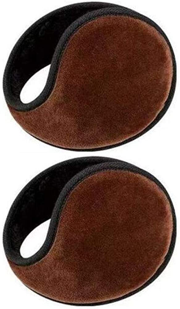 Set of 2 Warm Winter Earmuffs Winter Ear Warmers Covers for Cold Weather Behind The Head Style, D08