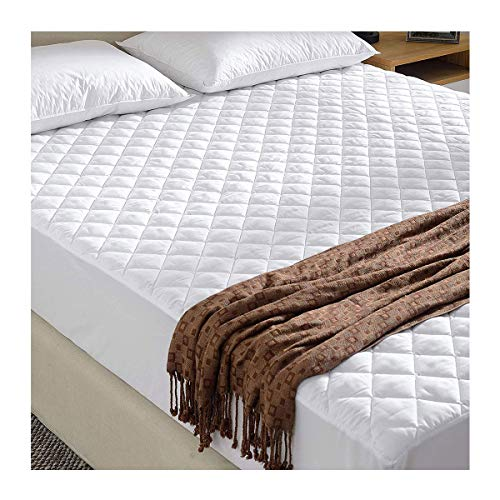 FAIRWAYUK Quilted Mattress Protector, Hotel Quality Microfibre Protectors, Anti Dustmite, Absorbent, Breathable, Super Soft, Double