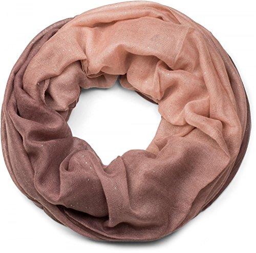 styleBREAKER elegante fular de tubo brillante con degradación de diferentes colores, bufanda de purpurina, lentejuelas, pañuelo, señora 01017033