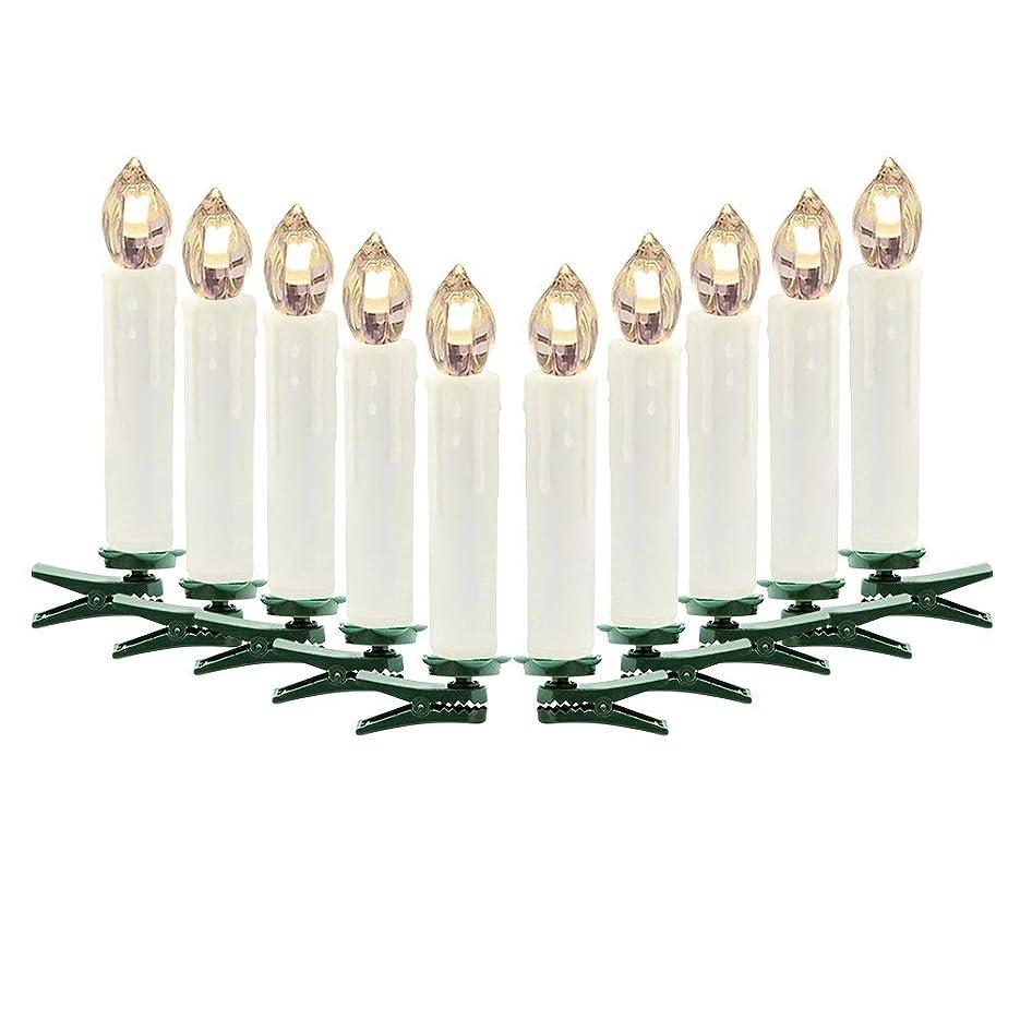 浸したサンダース忠実TeFuAnAn  led キャンドルライト 10個セット リモコン付き 電池式 クリスマス  クリスマスツリー  装飾ライト 装飾 雰囲気