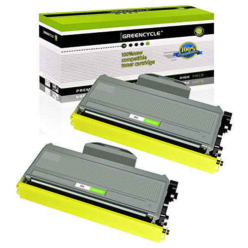 GREENCYCLE 2600 Pages per Toner Cartridge Replacement Compatible for Brother TN360 TN-360 TN330 TN-330 Used in HL-2170W HL-2150N DCP-7045N DCP-7040 MFC-7840W MFC-7340 MFC-7345N (Black, 2-Pack)
