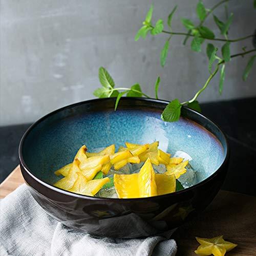 WEI-LUONG Dining Ciotola in Ceramica Tagliatelle di Riso Vassoio della Frutta Fresca Piatto da tavola di miscelazione Ciotola 23x8.2cm for casa Pot della minestra Alimentari for casa Kitchen