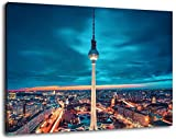 Fernsehturm in Berlin Format:80x60 cm Bild auf Leinwand