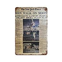 Apollo Landing on The Moon Astronaut INTL Space Station Space Agency 2 ブリキ看板ヴィンテージ錫のサイン警告注意サインートポスター安全標識警告装飾金属安全サイン面白いの個性情報サイン金属板鉄の絵表示パネル40*30cm