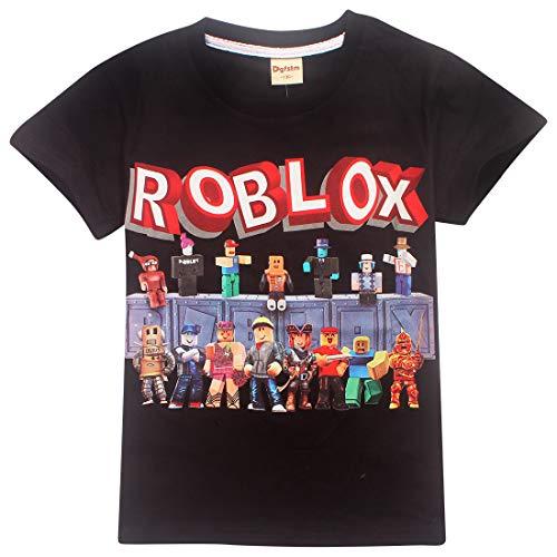 Dgfstm Jungen Youtube Family Gaming Team Atmungsaktives Baumwolle T-Shirt Gr. 9-10 Jahre, Schwarz3