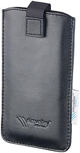 simvalley MOBILE Zubehör zu Smartphone Dual-SIM: Schutztasche für Smartphones bis 4,7