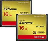 SanDisk 16GB Extreme CF Card 2-Pack (SDCFXS2-016G-X46)