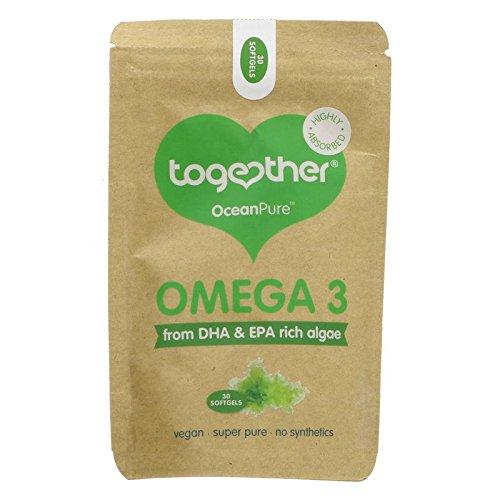 Junto Omega 3 DHA de algas rico 30 por paquete