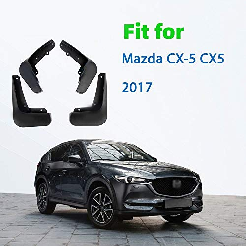 ZXCVBNM Mud Flaps Fit for Mazda CX5 CX5 2017 Coches Pasos DE Rueda Guardabarros Guardabarros Guardabarros Guardabarros Delantero Accesorios (Color : 2017)