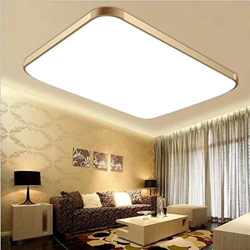 LED-Deckenleuchte, Aluminium, Acrylmaterial, dreifarbige Lichtgolddicke Bordüre für Schlafzimmer, Wohnzimmer, Küche, Flur, Büro Für Schlafzimmer,Wohnzimmer,Küche,Flur