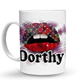 N\A Taza de café Grande de cerámica con Nombre de niña Femenina Dorthy/Diseño de Taza # 74