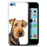 Stuff4 Coque pour Apple iPhone 5C Chiens Airedale Terrier Désign Transparent Etui Housse Case Rigide Ultra Mince